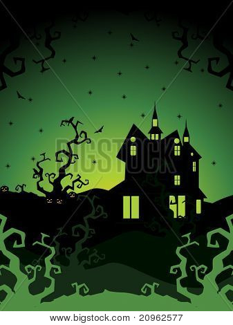vector illustration of happy halloween background, illustration
