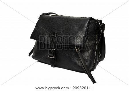 black fashion bag photo with white background