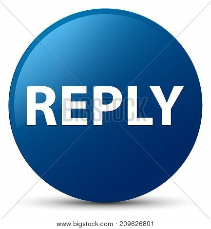 Reply Blue Round Button