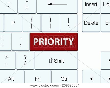 Priority Brown Keyboard Button