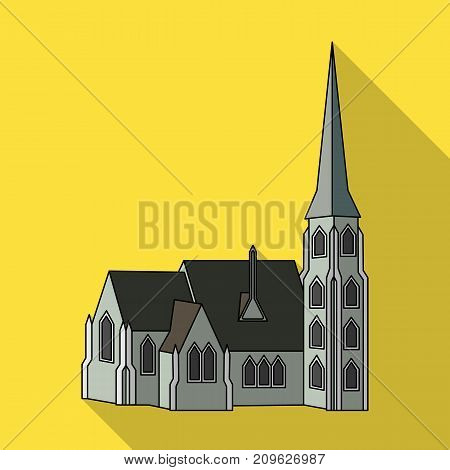 Building, single icon in flat style.Building, vector symbol stock illustration .