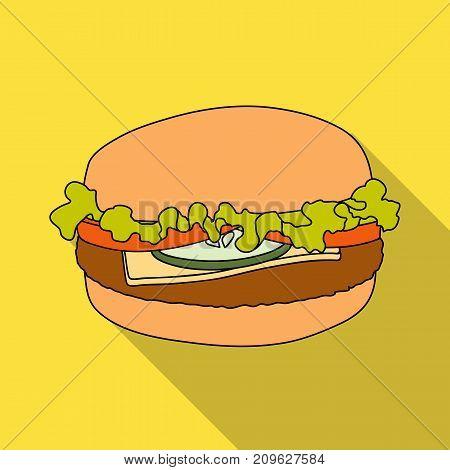 Cheeseburger, single icon in flat style.Cheeseburger, vector symbol stock illustration .