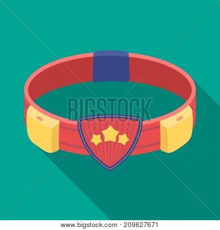 Belt, single icon in flat style.Belt, vector symbol stock illustration .