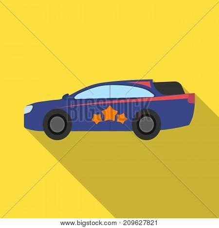 Car, single icon in flat style.Car, vector symbol stock illustration .