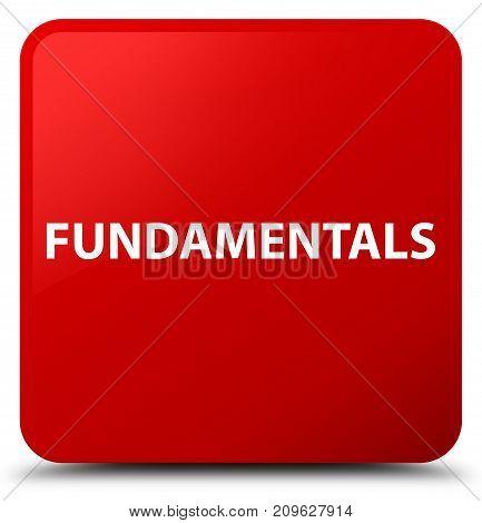 Fundamentals Red Square Button