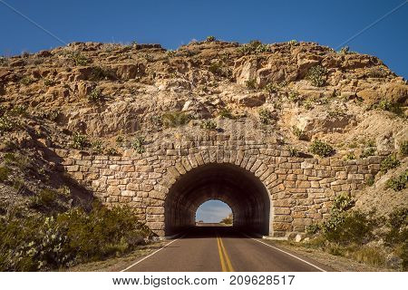 Stone Arch Entrance to Big Bend National Park Rio Grande Section