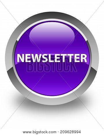 Newsletter Glossy Purple Round Button