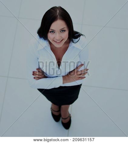 business woman. Top view