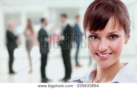 Portrait of a business woman looking happy and smiling