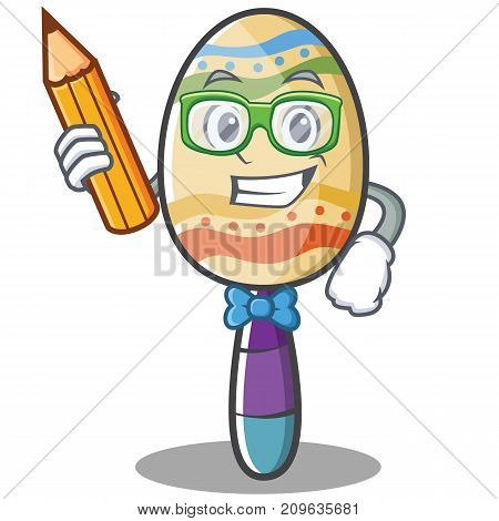 Student maracas character cartoon style vector illustration