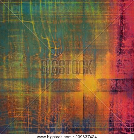 Grunge texture, aged or old style background with retro design elements and different color patterns
