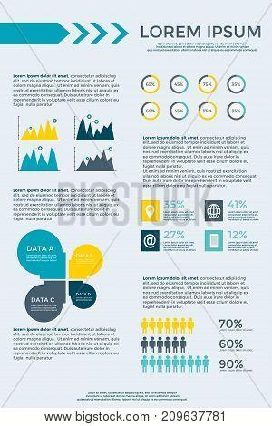 Infographic Elements Collection For Brochure Presentation, Booklet, Website, Diagram, Banner, Number