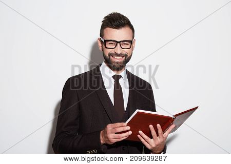 Portrait Of Handsome Man At White Background