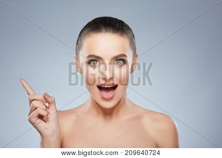 Beauty Portrait Of Exited Girl