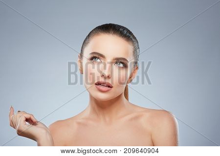 Beauty Portrait Of Contemplated Woman
