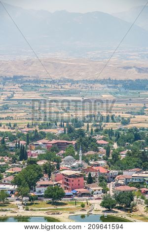 The City Of Pamukkale In The Province Of Denizli