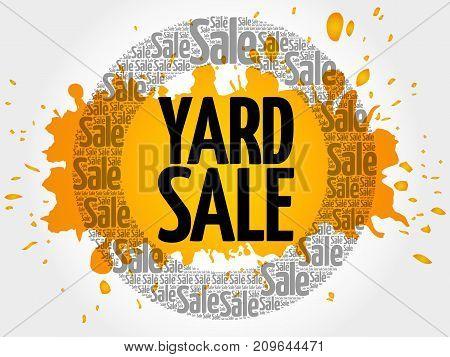 Yard Sale Words Cloud