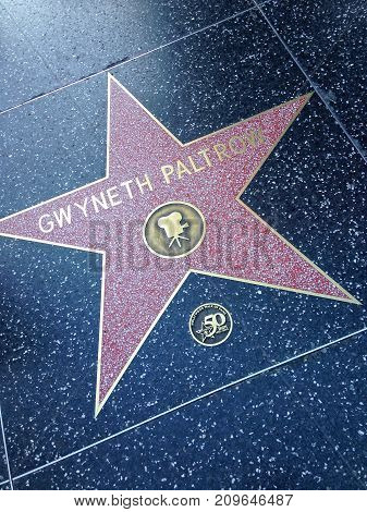 Gwyneth Paltrow Hollywood Walk Of Fame Star.