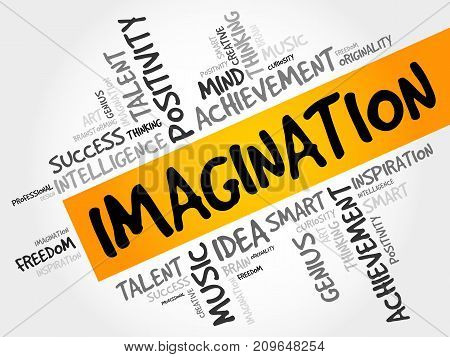 Imagination Word Cloud Collage