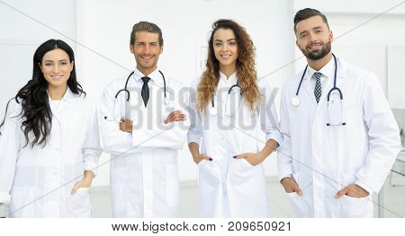 Portrait of a group of hospital colleagues