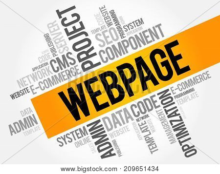 Webpage Word Cloud Collage