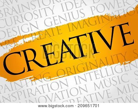 Creative Word Cloud Collage