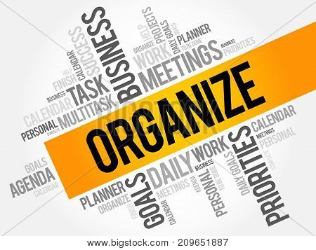 Organize Word Cloud Collage