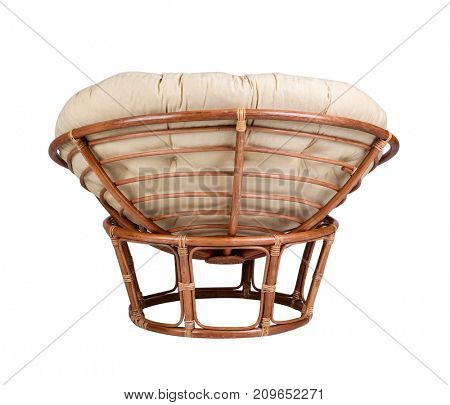 Lounge armchair on white background