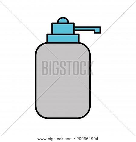 dispenser bottle gel liquid soap lotion vector illustration