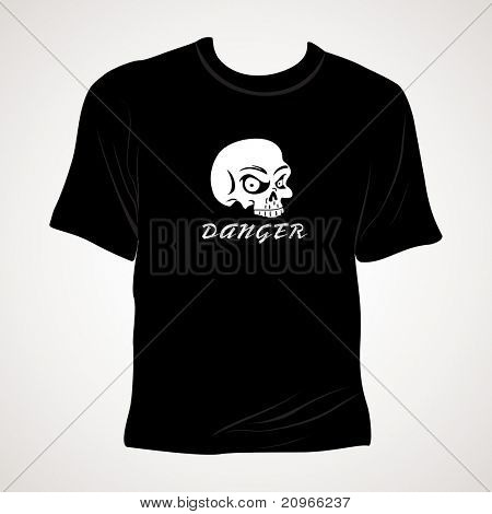 abstract grey background with isolated black tshirt
