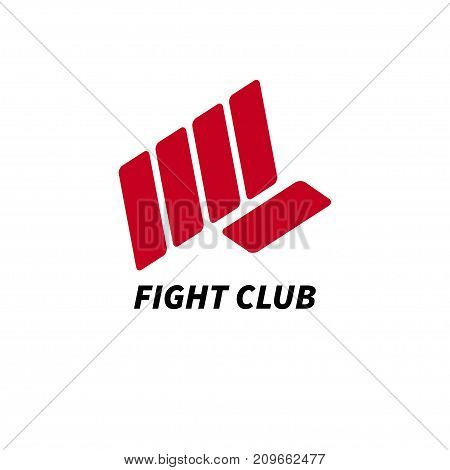 Red fist - logo fight club. Icon of Boxing. - Stock vector