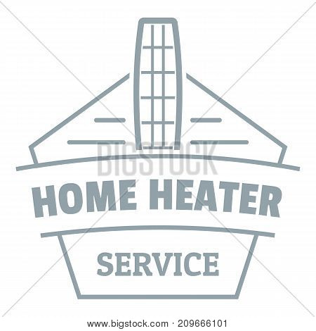 Home heater logo. Simple illustration of home heater vector logo for web