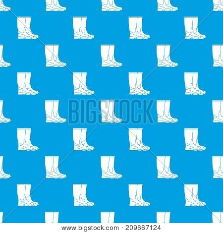 Boots pattern repeat seamless in blue color for any design. Vector geometric illustration