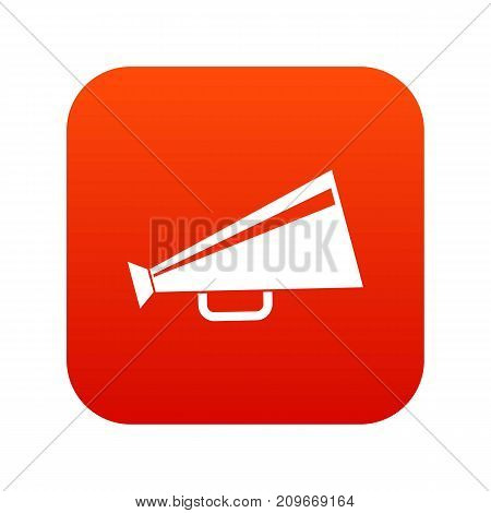 Mouthpiece icon digital red for any design isolated on white vector illustration