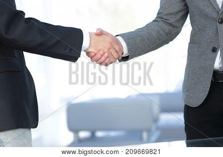 closeup.the handshake business partners