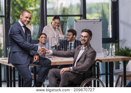 Multicultural Businesspeople Shaking Hands