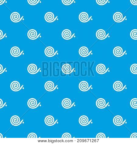 Garden hose pattern repeat seamless in blue color for any design. Vector geometric illustration