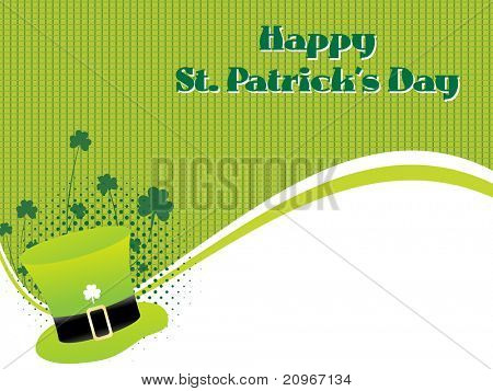 abstract element background for happy st. patrick's day