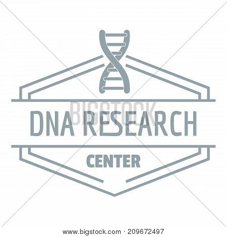 Research dna logo. Simple illustration of research dna vector logo for web