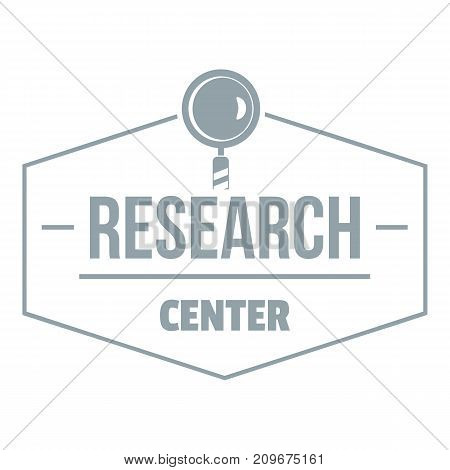Research center logo. Simple illustration of research center vector logo for web