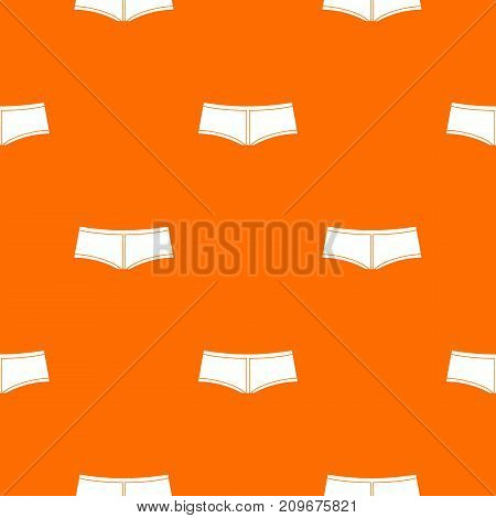 Boyshorts pattern repeat seamless in orange color for any design. Vector geometric illustration