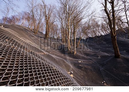 Reinforcement Of The Shore With A Metal Mesh, Reinforced Reinforcement