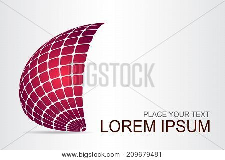 Logo stylized spherical surface with abstract shapes. This logo is suitable for global company world technologies media and publicity agencies