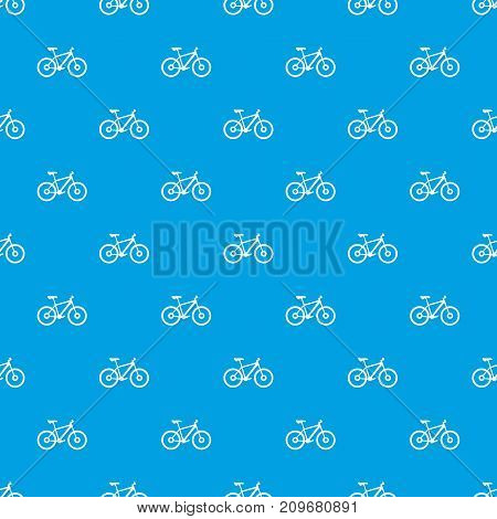 Bike pattern repeat seamless in blue color for any design. Vector geometric illustration
