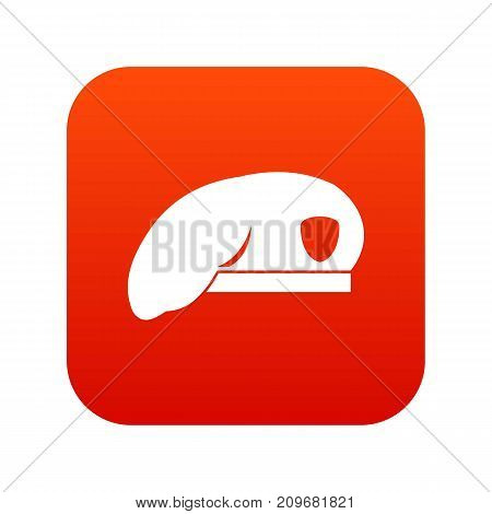 Military beret icon digital red for any design isolated on white vector illustration
