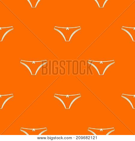Panties pattern repeat seamless in orange color for any design. Vector geometric illustration