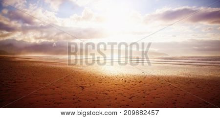 Scenic view of beach during sunny day