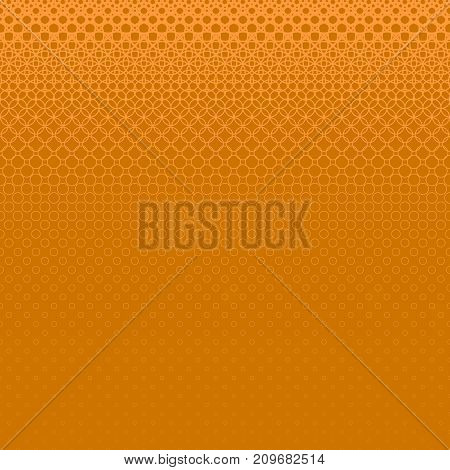 Abstract orange halftone circle pattern background - vector illustration from rings in varying sizes