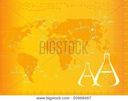 vector illustration of medical background