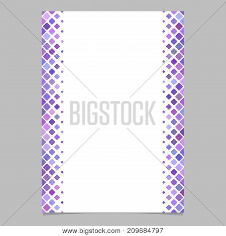 Abstracvt brochure border template from purple diagonal square pattern - vector design for flyer, card